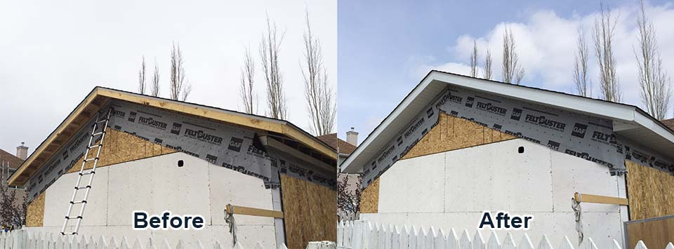Calgary fascia, Calgary Soffit, Eavestrough repair